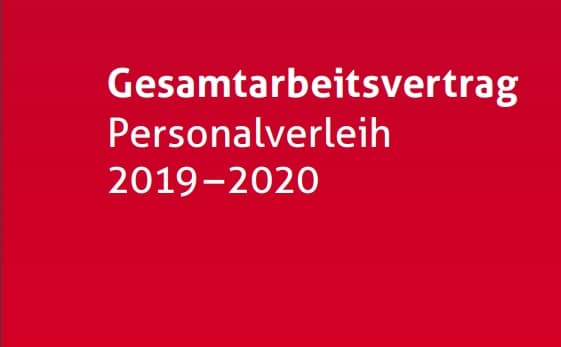 Im Herbst 2018 haben sich die Sozialpartner auf einen neuen Vertrag geeinigt. Der neue GAV Personalverleih (GAVP 2019-2020) trat per 1. Januar 2019 in Kraft, mit Gültigkeit bis Ende 2020.